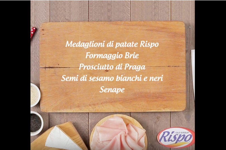 Medaglioni di patate Rispo con formaggio e prosciutto