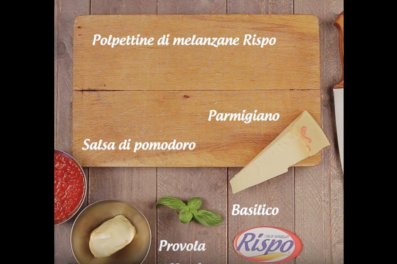 Polpettine di melanzane Rispo in parmigiana scomposta